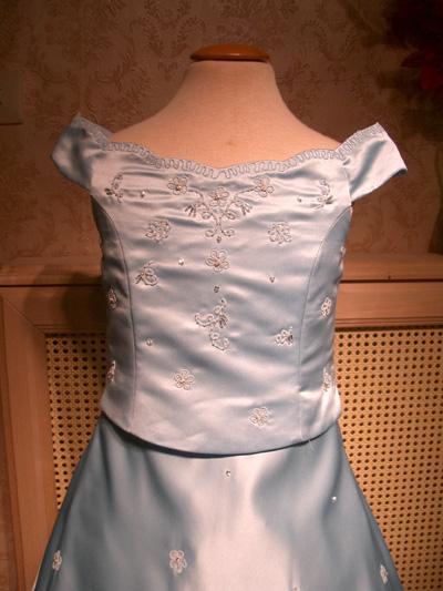 FEC70060B Blå, rosa och ivory Klänning från 2 till 12 år